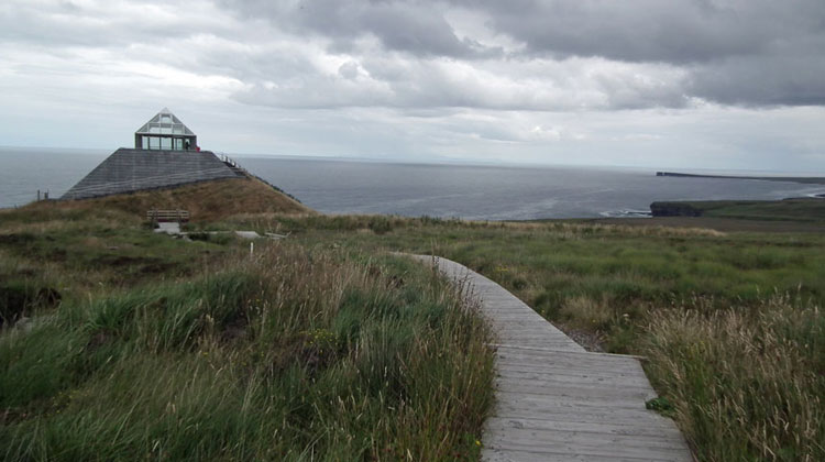 The Céide Fields Visitor Centre, Belderrig, County Mayo, overlooking the Atlantic Ocean, tells the story of Neolithic man in Ireland. Photo: Anthony Hickey