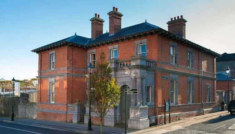 The Jackie Clarke Collection is housed in the three-storey, red-bricked former Provincial Bank building on Pearse Street, Ballina, Co Mayo, that was designed by the Victorian architect, Thomas Manly Deane, and restored by Mayo County Council who purchased it in 2008. Photo: Courtesy Jackie Clarke Collection