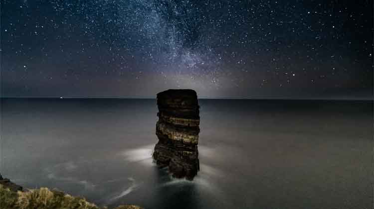The Milky Way over Dún Briste, Downpatrick Head. Photo: Anthony Hickey