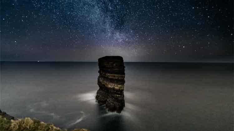 The Milky Way over Dún Briste, Downpatrick Head. Photo: Anthony Hickey