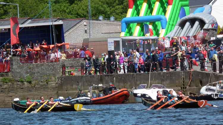 Colourful scenes at Ballina Quay Regatta, Sunday, June 14th 2015, during the Currach Rowing Races. Photo: Anthony Hickey