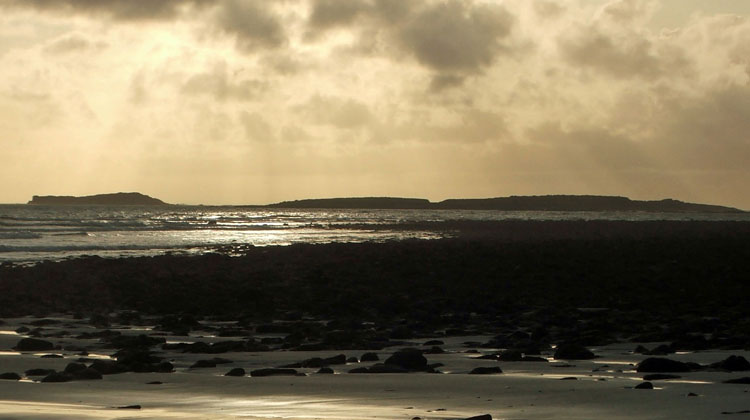 Cross beach, part of The Cross Loop Walks on The Mullet in Co Mayo, looking out on Inishglora. Photo: Anthony Hickey
