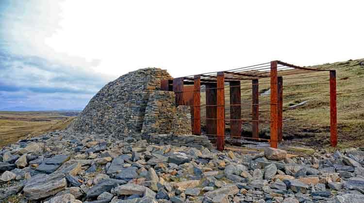 The Beehive, part of Tir Saile, the North Mayo Sculpture Trail, at Annagh Head. Photo Anthony Hickey