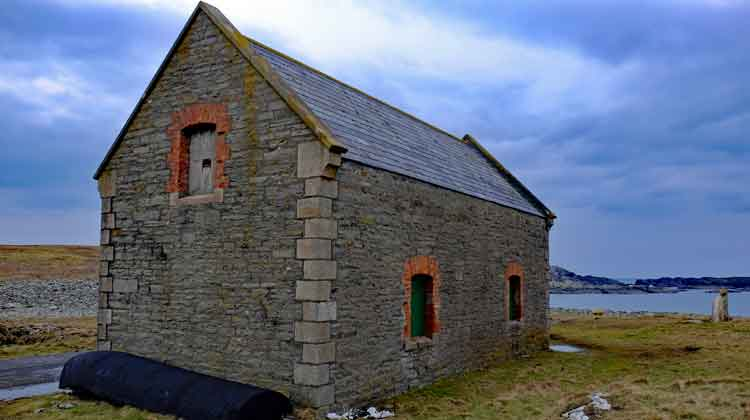 The old boathouse at Scotchport, Co Mayo. Photo: Anthony Hickey