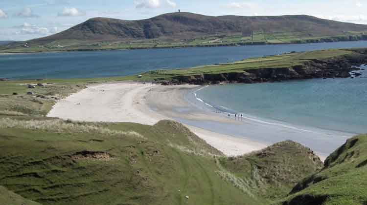 The sandy cove at Carrowteige in the wild and wonderful wilderness of North Mayo. Photo: Anthony Hickey