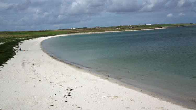 Aughleam beach on the Mullet is a sheltered strand with parking and picnic area. Photo: Anthony Hickey