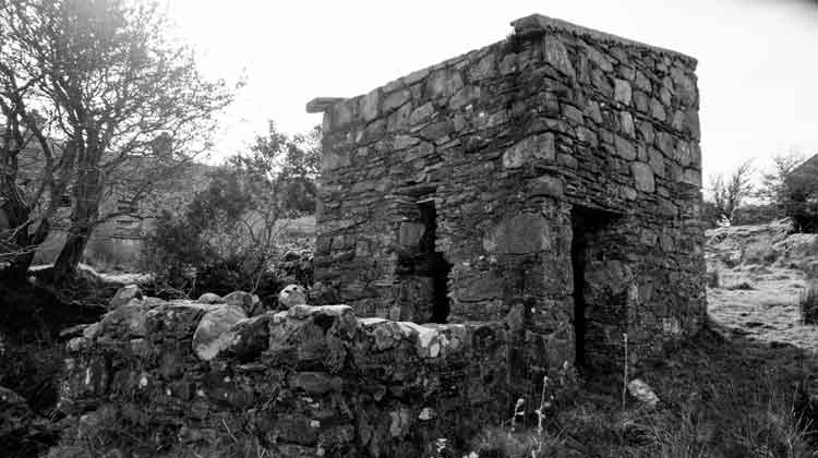 The ruins of an old granary or pigsty at at Byhalla, Attymass, Co Mayo. Photo: Anthony Hickey