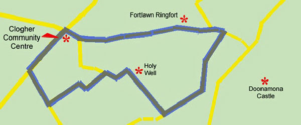 Tobermacduagh Holy Well map.