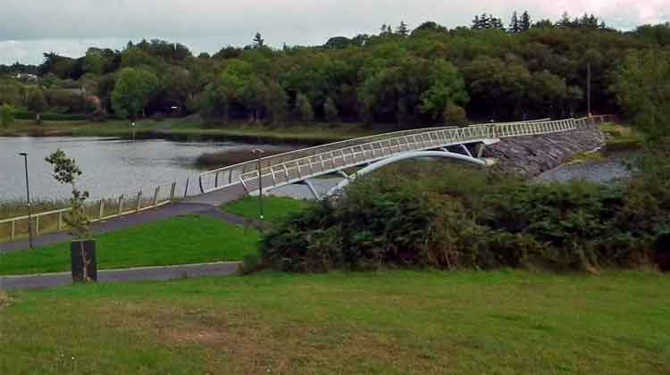 The pedestrian bridge over Lough Lannagh in Castlebar, Co Mayo. Photo: Anthony Hickey