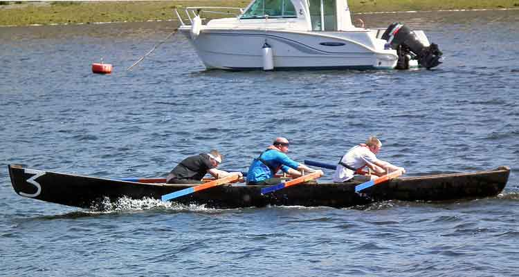 Currach Rowing Races at Ballina Quay Regatta, Sunday, June 14th 2015. Teams were taking part in the Coiste Lar na gCurrachai - All Ireland Currach Racing League. Photo: Anthony Hickey