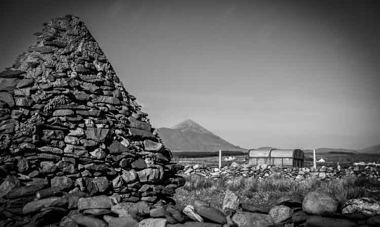 Croagh Patrick as seen from near Cross Lough on the Killeen Loop walk. Photo: Anthony Hickey