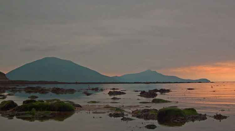 Sunset on Doohoma beach in Co Mayo. Photo: Anthony Hickey