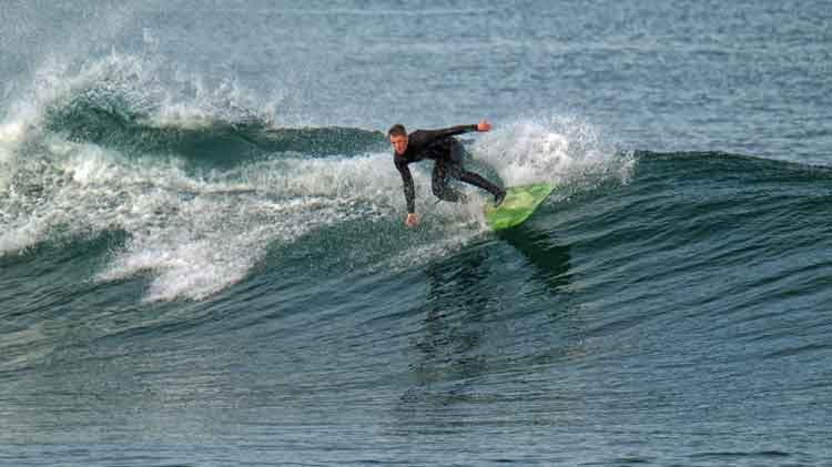 Catching a wave Easkey Right, October 2016. Photo: Anthony Hickey