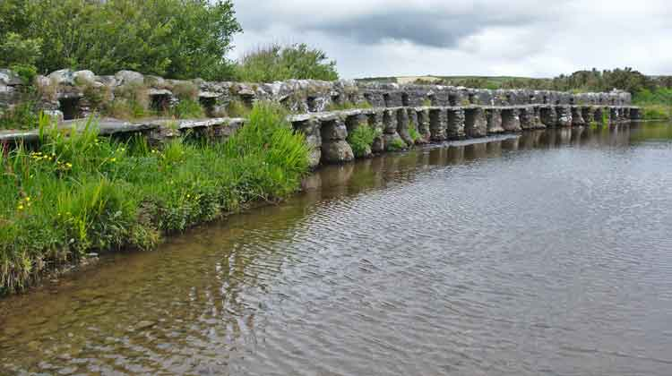 Bunlahinch Clapper Bridge south of Louisburgh in Co Mayo. Photo: © Anthony Hickey