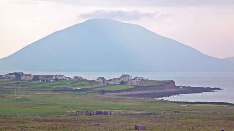 Doohoma Head in the shadow of Achill Island's biggest mountain, Slievemore. Photo: Anthony Hickey