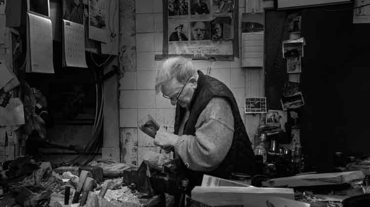 Michael Quirke, Woodcarver of Wine Street, Sligo. Photo: Anthony Hickey