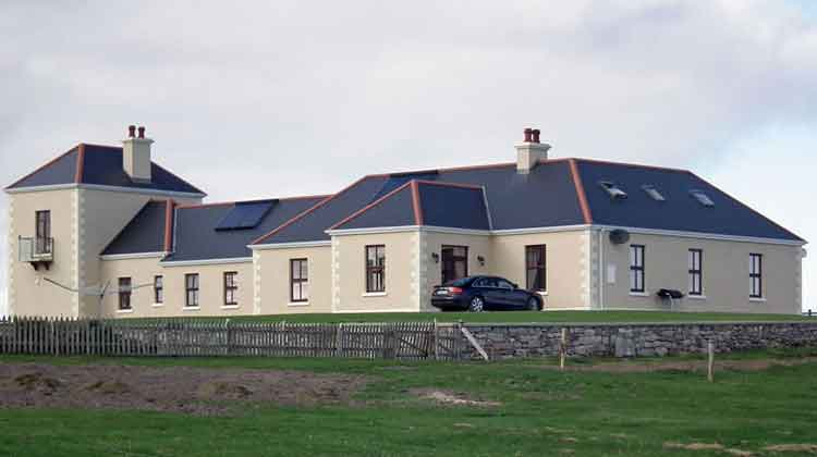 Belmullet Coastguard Station on Cleggan Island, Co Mayo, has been transformed into luxury self-catering accommodation. Photo: Anthony Hickey