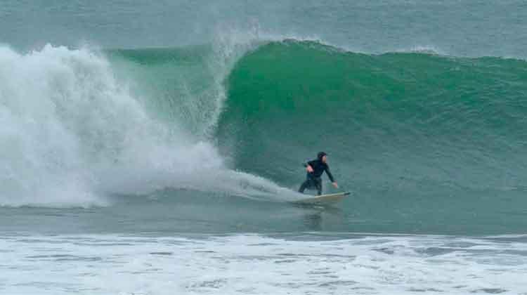 Surfing Kilcummin's big wave, February 9th, 2019. Photo: Anthony Hickey