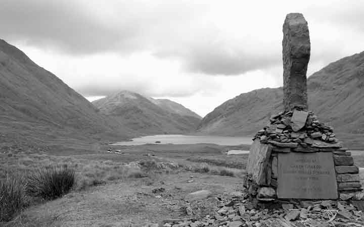 The monument commemorating the Famine victims overlooking the hauntingly beautiful Doolough Valley, Co Mayo. Photo: Anthony Hickey