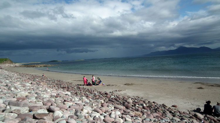 Mulranny beach is perfect for siwmming and has lifeguards on duty during the summer. Photo: Anthony Hickey