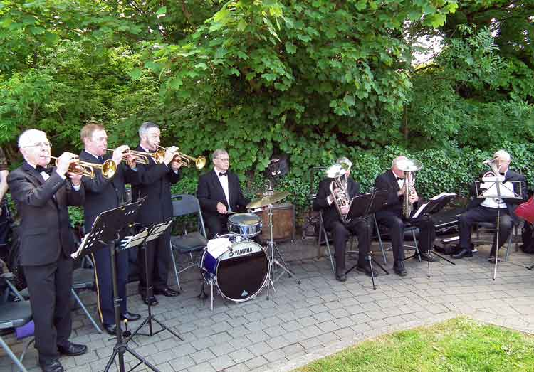 The Ballina Brass Band Ensemble playing at the The Great War Remembrance Monument unveiling ceremony in Ballina on Saturday June 20th 2015. Photo: Anthony Hickey.