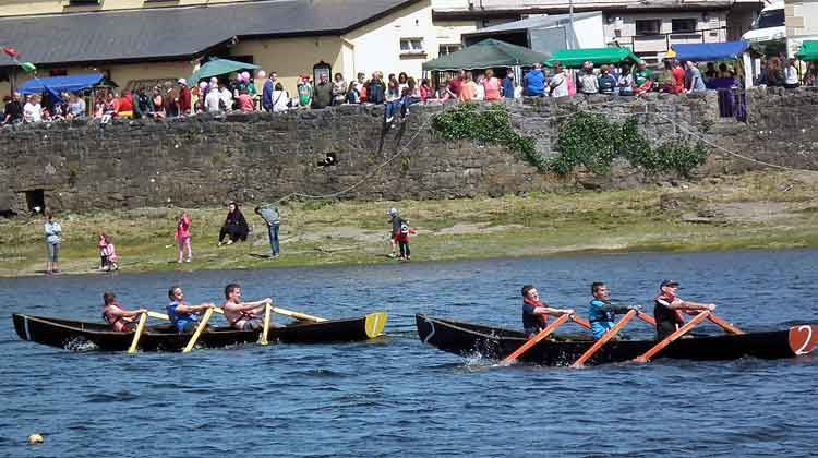 Currach Rowing Races at Ballina Quay Regatta, Sunday, June 14th 2015, as part of the Coiste Lar na gCurrachai - All Ireland Currach Racing League. Photo: Anthony Hickey