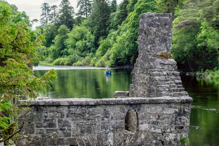 Fishing near the Monk's Fishing House at the entrance to Cong Wood. Photo: Anthony Hickey