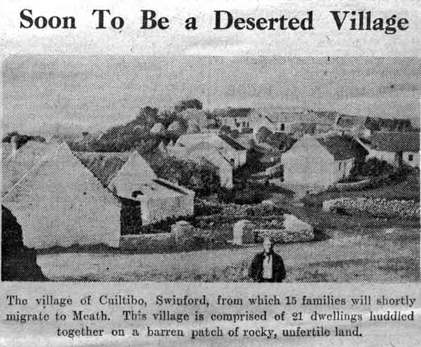 The small village of Cuiltybo, Co Mayo, photographed by Tommy Battle, shortly before it was abandoned in 1937. Photo: Courtesy PJ Clarke