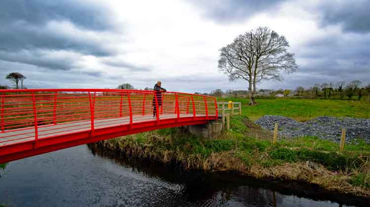 The new bridge over the Castlebar River is a feature of the Castlebar to Turlough Greenway. Photo: Anthony Hickey