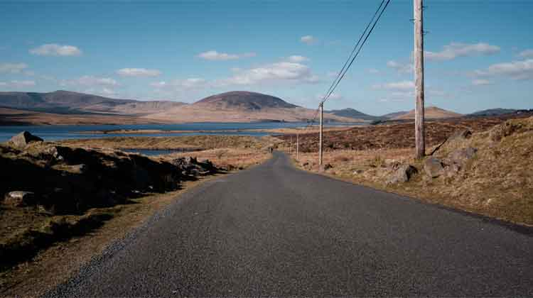 Known locally as 'The Wires', the road along the east shore of Lough Feeagh is a beautiful walk that is not listed among Mayo's trails. Photo: Anthony Hickey