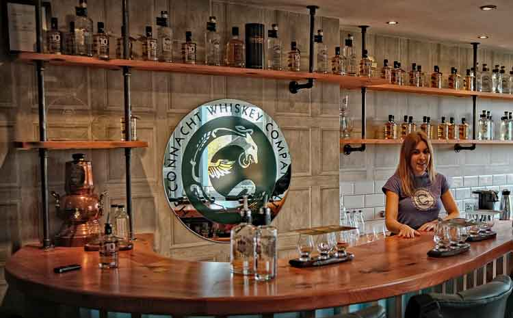 Lyndsey Harkins who is The Connacht Whiskey Company's retail manager and tour guide. Photo: Anthony Hickey