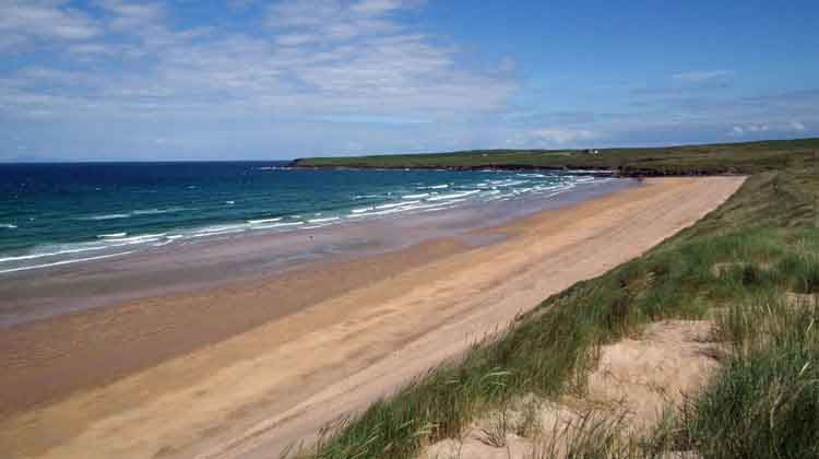 The 'back beach' at Kilcummin adjoins Lacken Strand and is perfect for walking and family barbeques. Photo: Anthony Hickey