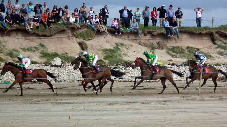 Racing for the finish line in the Doolough Horse Races near Geesala in Co Mayo on August 16th 2015. Photo: Anthony Hickey