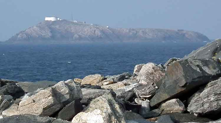 A view of Eagle Island, Co Mayo, from The Mullet Peninsula. Photo: Anthony Hickey
