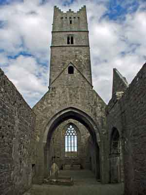 The impressive bell tower of Rosserk Friary, Co Mayo. Photo: Anthony Hickey