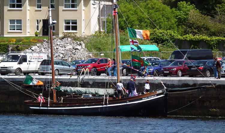 The Galway Hooker, Mac Duach moored at Ballina Quay, Sunday, June 14th 2015, where it took part in the Ballina Quay Regatta. Photo: Anthony Hickey