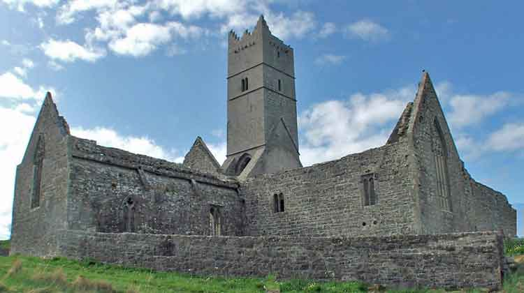 The Franciscan Friary at Rosserk, near Ballina, Co Mayo, was founded around 1440 and is one of the best preserved Franciscan monasteries in Ireland. Photo: Anthony Hickey