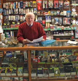 The 2014 Mayo Person of the Year, John Walkin, in his shop in Ballina. Photo: Anthony Hickey