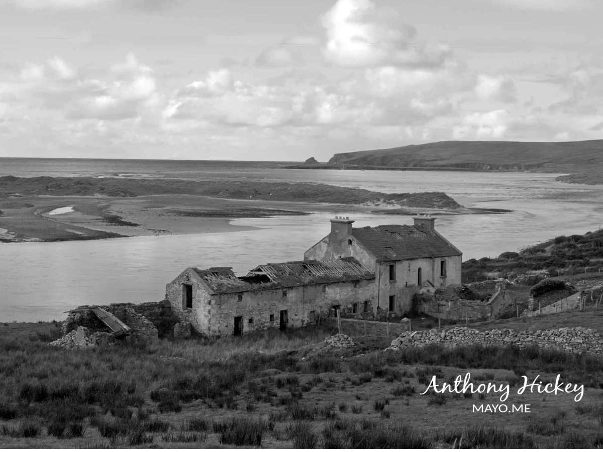 Rossport House, overlooking Broadhaven Bay, in Co. Mayo. Photo: Anthony Hickey