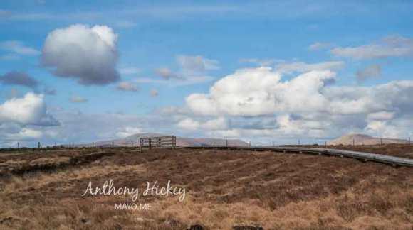 The Claggan Mountain Coastal Trail, Ballycroy, Co Mayo, under a prairie sky. Photo: © Anthony Hickey