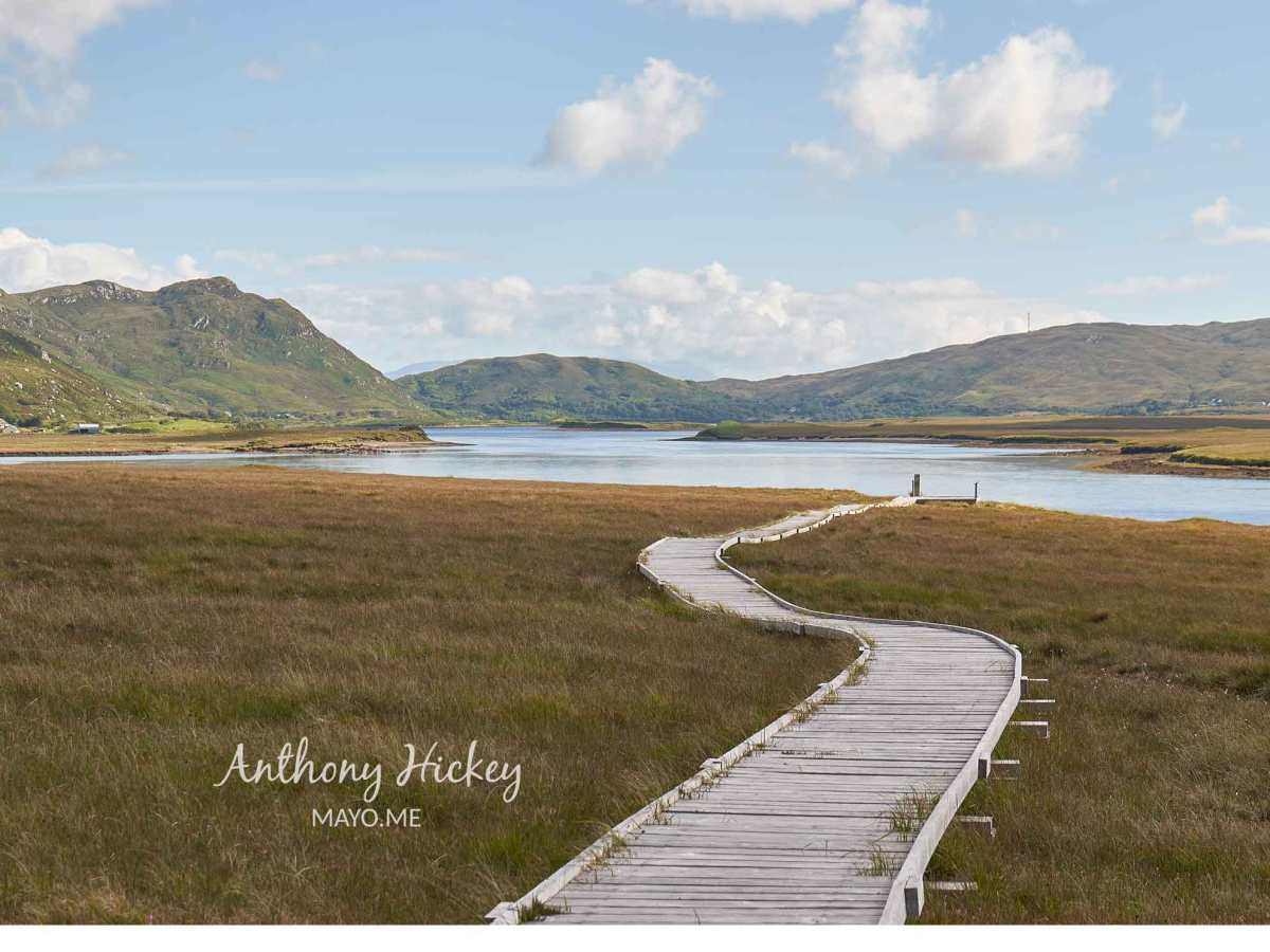 Magnificent views of mountain and sea along the Claggan Mountain Coastal Trail, Ballycroy, Co Mayo. Photo: © Anthony Hickey