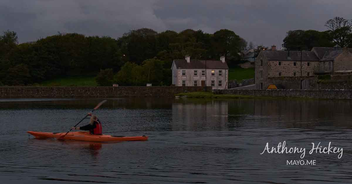 Killala Harbour kayaker at twilight. Photo: Anthony Hickey