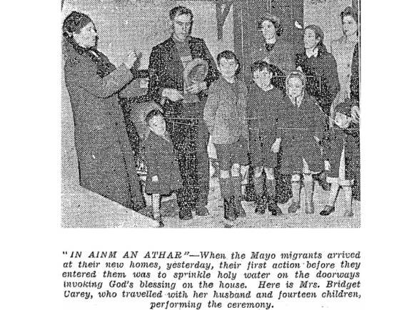 Carey family, Co Mayo, migrants to Meath in 1943.